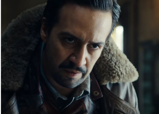 Screen shot showing Lin Manuel Miranda from His Dark Materials.
