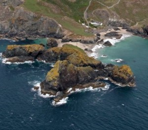 Aerial image of Lizard Point, the answer to question 5.