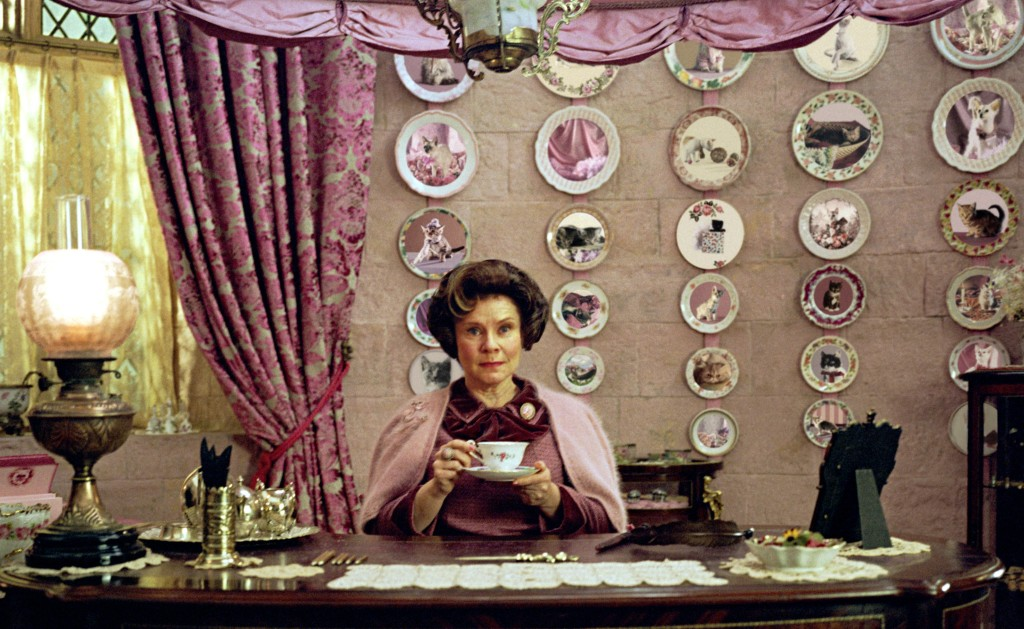 Dolores Umbridge office - the exact pattern for the duvet cover.