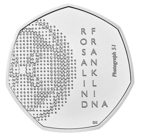 New 50p coin minted in recognition of the scientist Rosalind Franklin
