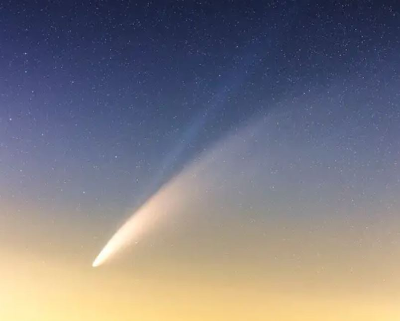 Comet neowise, seen this summer.