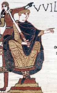 Depiction of William of Normandy in the Bayeaux Tapestry.