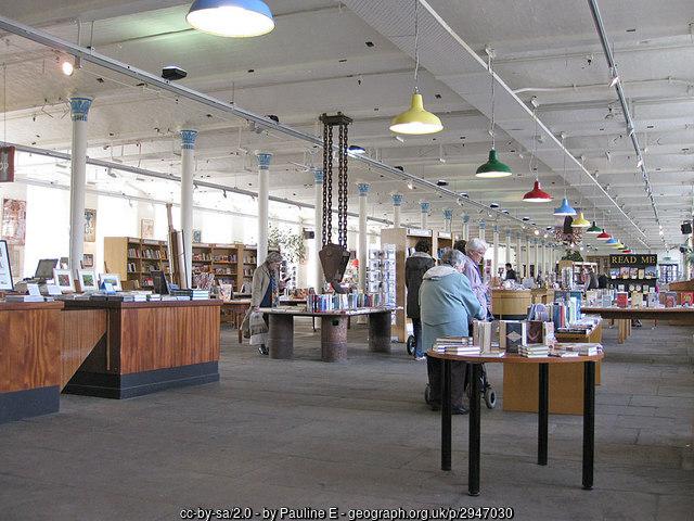 Interior of the Salts Mill bookshop