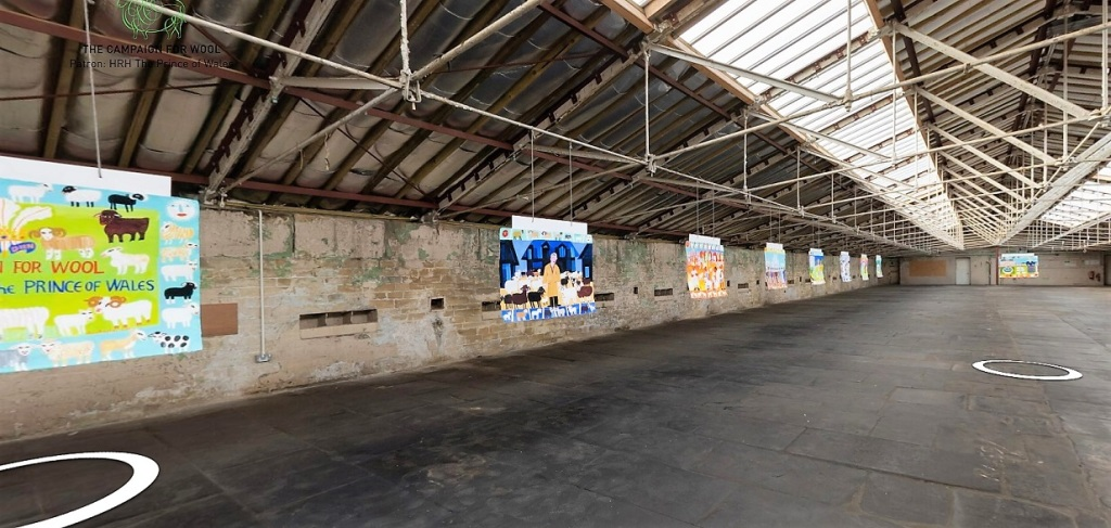 Virtual tour inside a loft space in Salts Mill Bradford.
