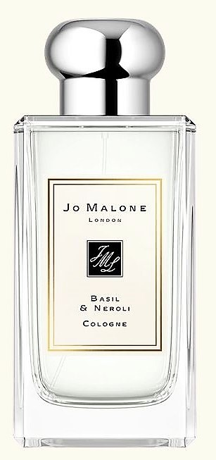 jo Malone perfume - with Neroli and Basil.