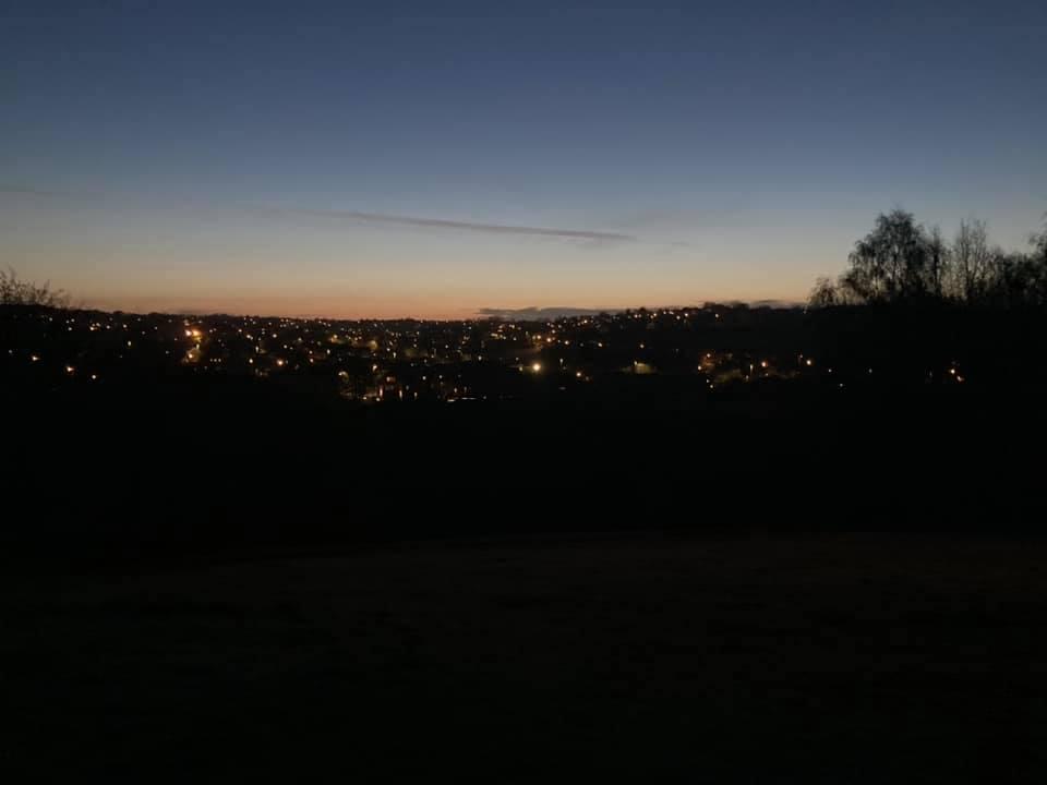 Pre-sawn light over north leeds