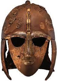 Anglo Saxon helmet found at Sutton hoo in Suffolk,